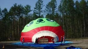 アルクマ熱気球立ち上げ途中