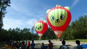 アルクマ熱気球大小2機